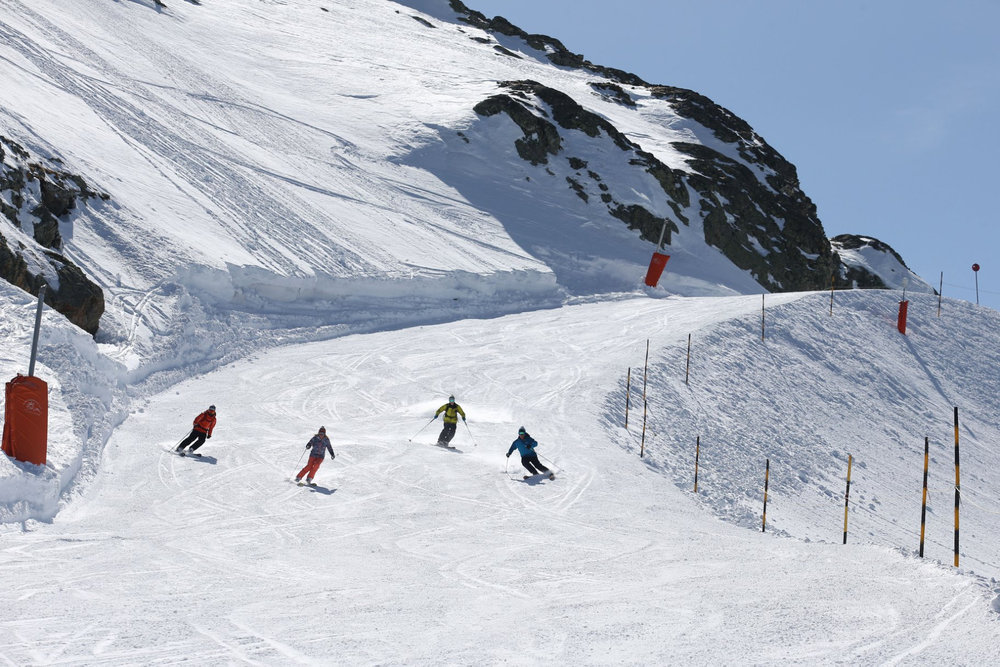 Sur les pistes de ski de Vaujany - © Station de Vaujany