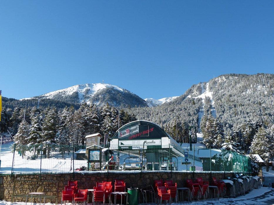 Le départ des remontées mécaniques de Masella - © Station de ski de Masella