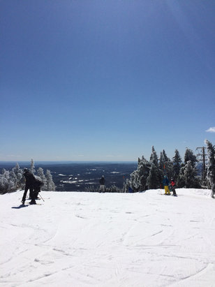 Mount Snow - Skied Sat April 21st,.. nice day good coverage, sunny skies, good way to end the season! - © iPhone