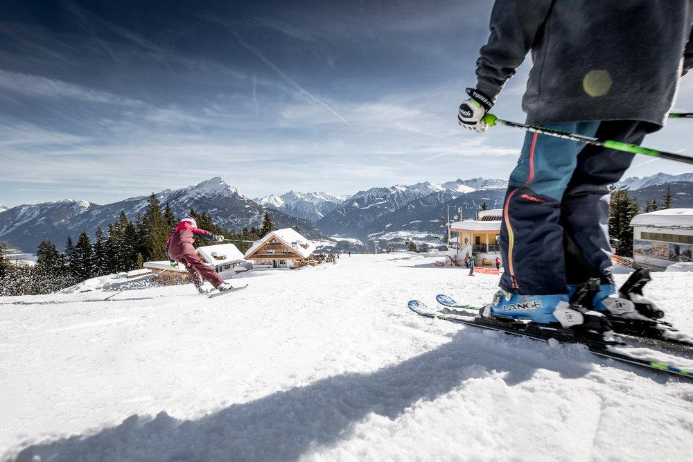 Auf dem Weg zur Mittagspause in Hoch-Imst - © Imster Bergbahnen | Rudi Wyhlidal