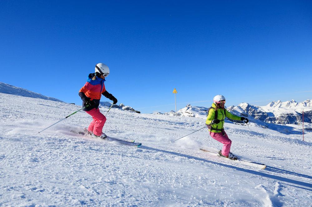 Ski en famille sur les pistes de Flaine - © OT Flaine / Monica Dalmasso