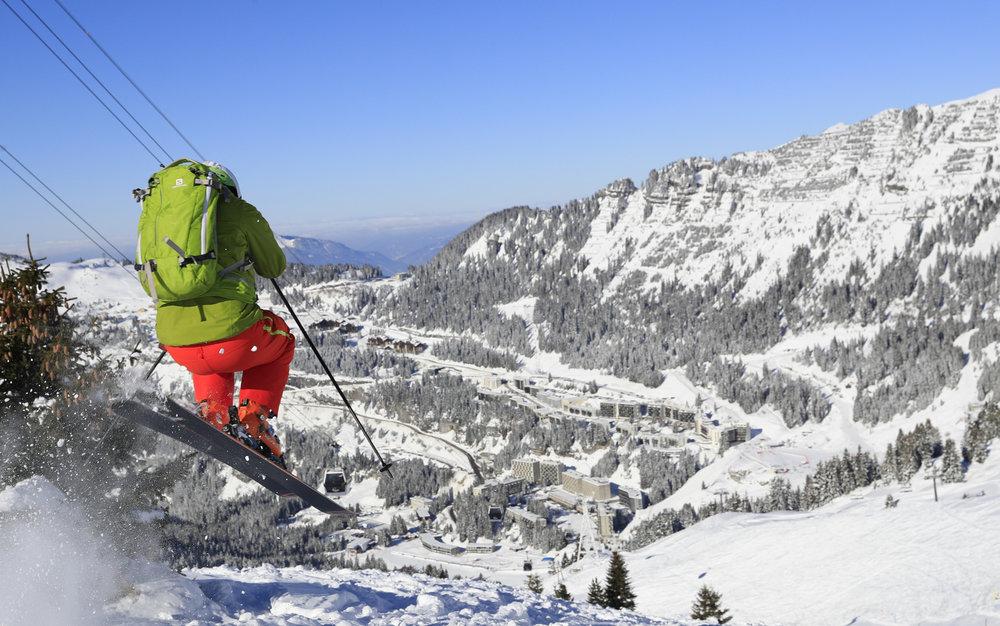 Flaine, un des spots les plus prisés des skieurs de hors-piste - © OT Flaine / Monica Dalmasso