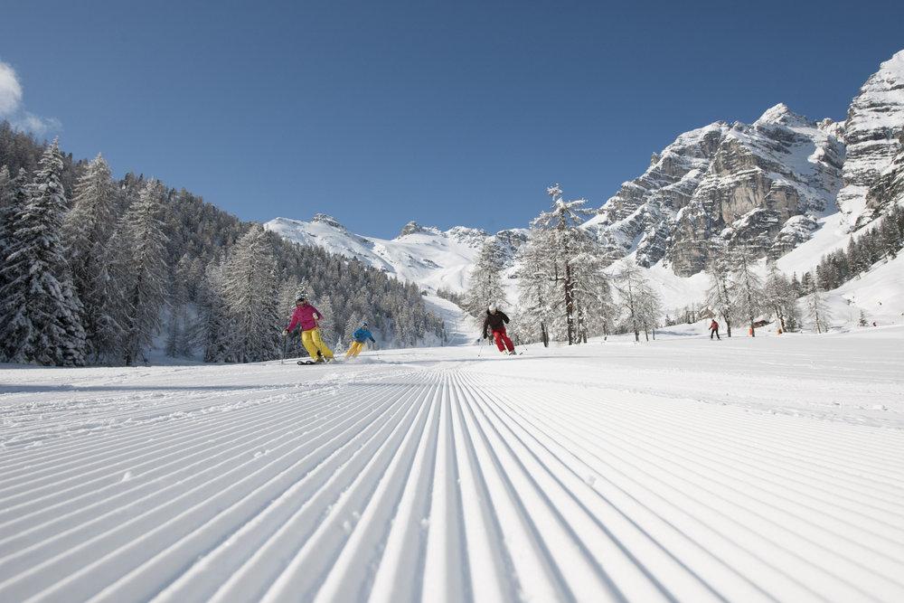 Skifahren in der Schlick 2000 im Stubaital - © Schlick 2000_André Schönherr