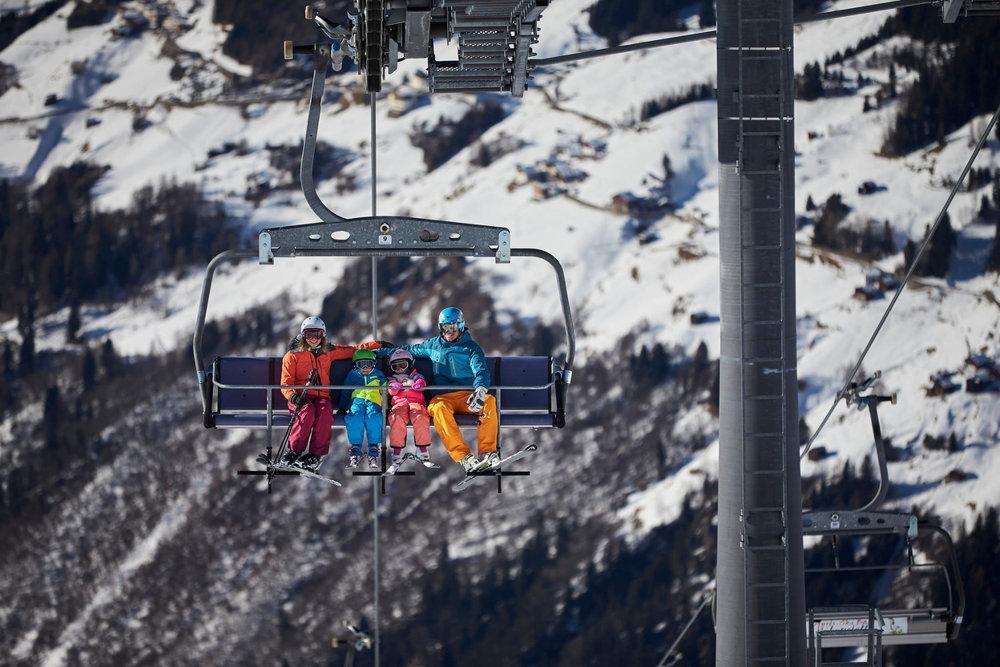 Winterliche Eindrücke aus dem Skigebiet See im Paznauntal - © www.bergbahn.com