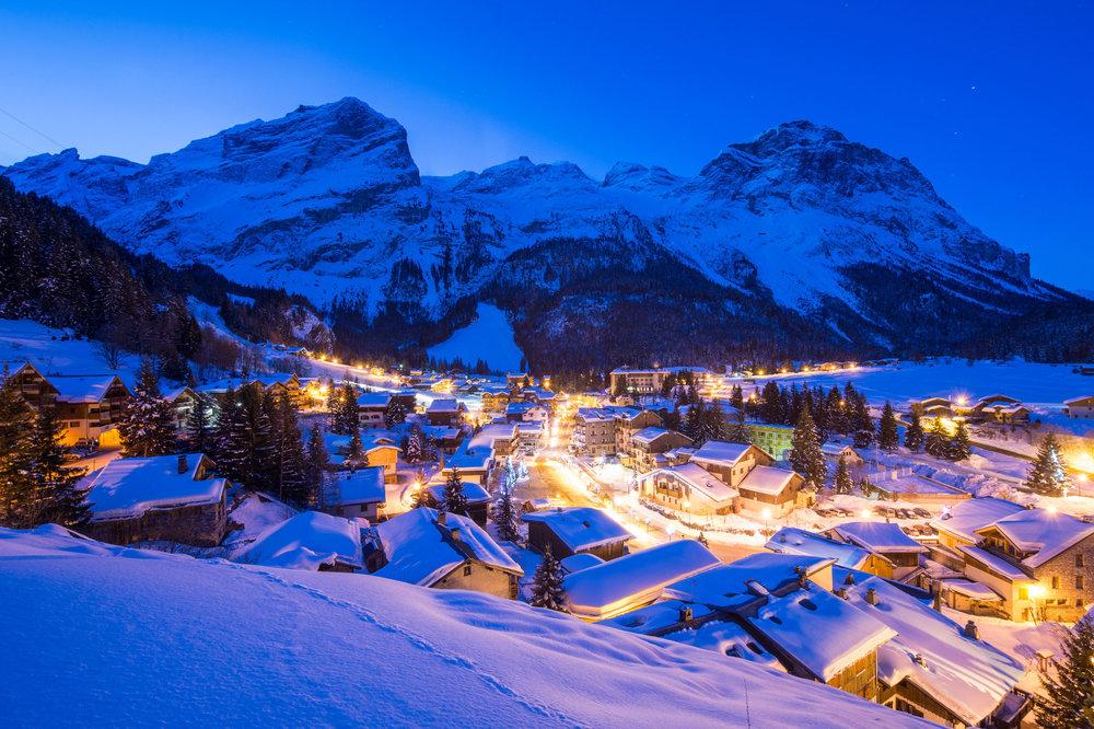 Ambiance hivernale d'une fin de journée dans la station de ski de Pralognan la Vanoise - © Gilles Lansard