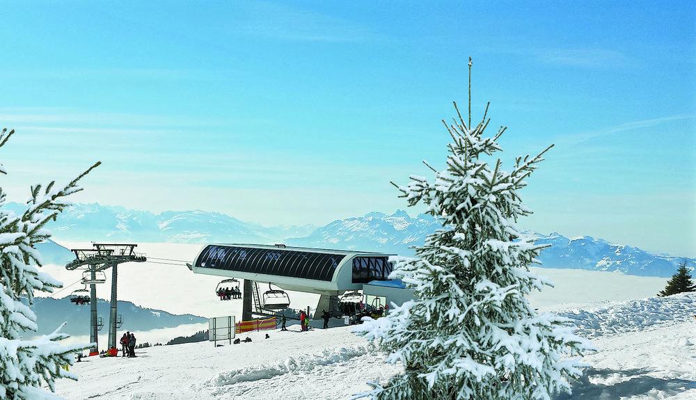 Wintertraum im Skigebiet Laterns - © Seilbahnen Laterns GesmbH