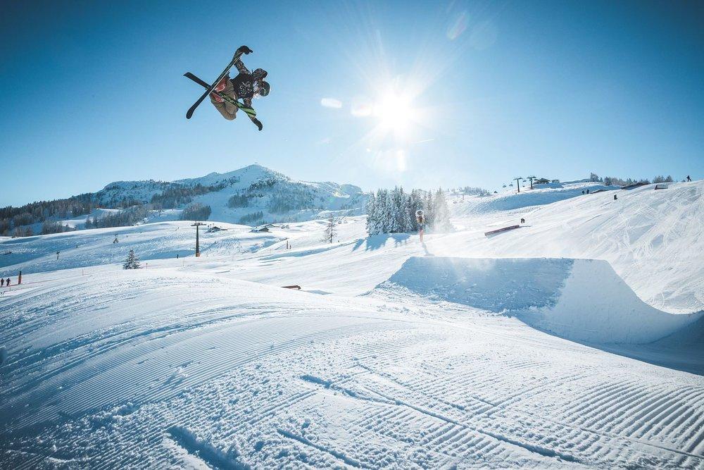 Impressionen aus dem Snowpark auf der Steinplatte - © Bergbahnen Steinplatte