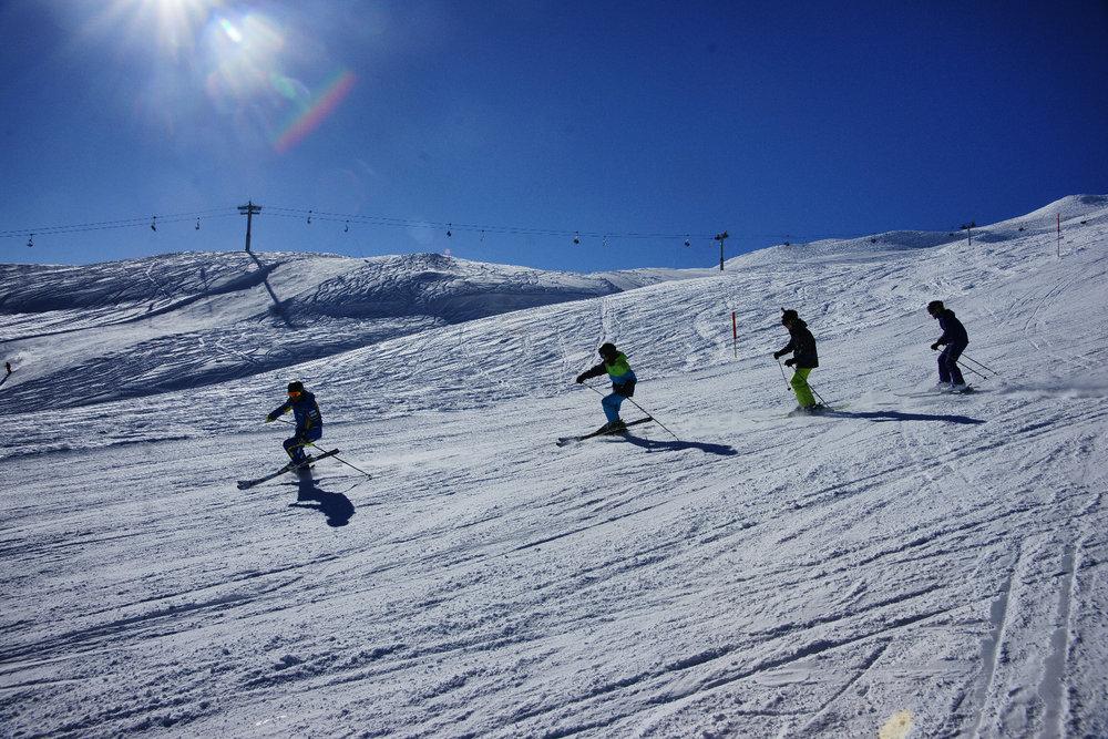 Skifahren in Brigels - © Surselva Tourismus AG
