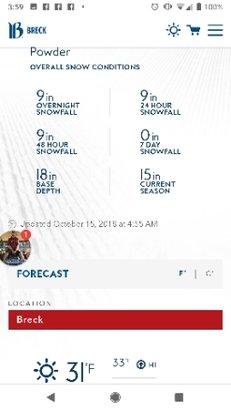 Breckenridge - 9 inch overnight snow fall, 19 inch base. via Breckenridge.com - © anonymous