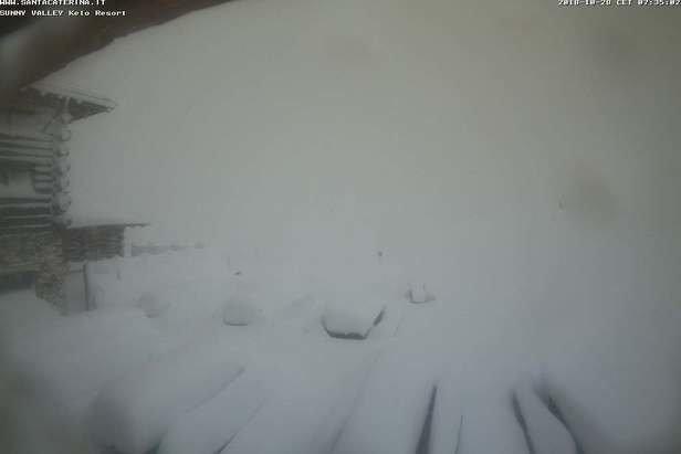 Santa Caterina Valfurva - Neve fresca sulle Alpi 27-28 Ottobre 2018 - © Santa Caterina Valfurva webcam