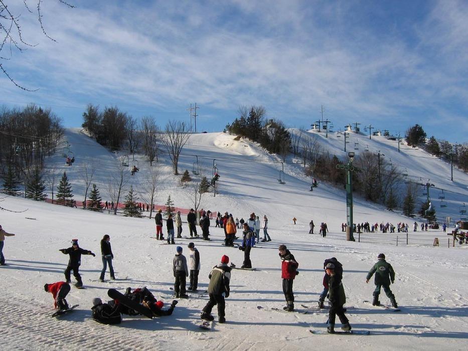 Many visitors at Mt Kato, MN.