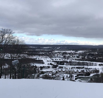 Boyne Mountain Resort - Boyne is actually open I was snowboarding there yesterday. On the snow is wrong - © iPhone