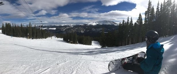 Breckenridge - packed powder with an inch of groom on top, slick in spots but still preseason  - © anonymous