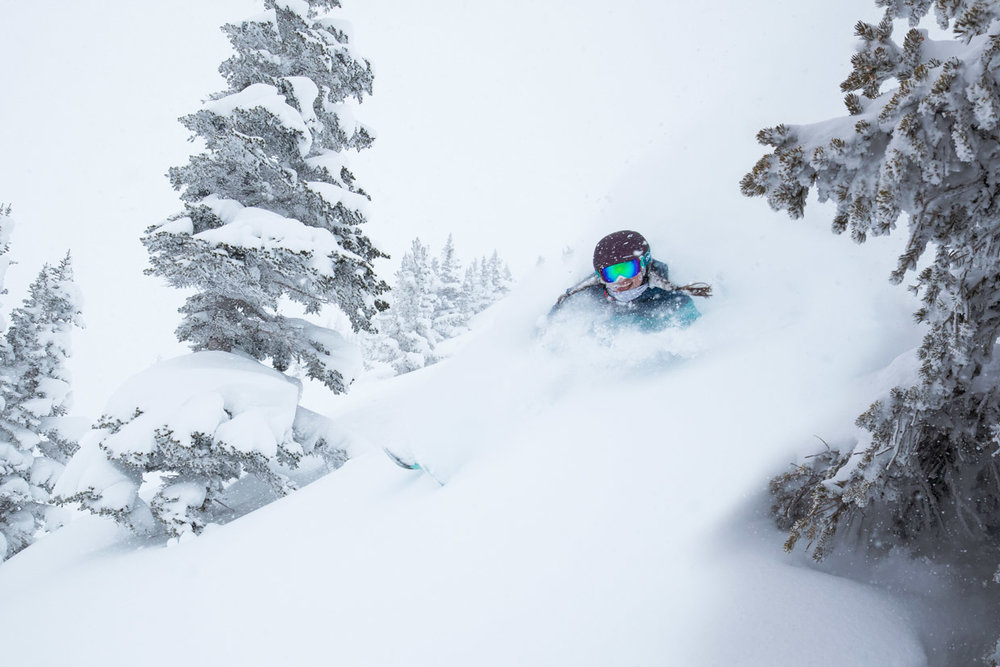 Alta Ski Area is a skiers-only resort on more than 2,200 acres only 35 minutes from downtown Salt Lake with rustic lodging and a old-school ski tradition. - © Adam Clark