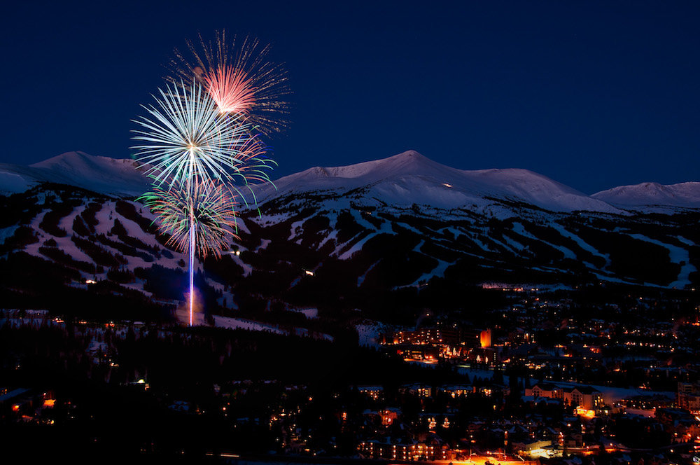 Fireworks over Breckenridge ring in the New Year. - © Breckenridge