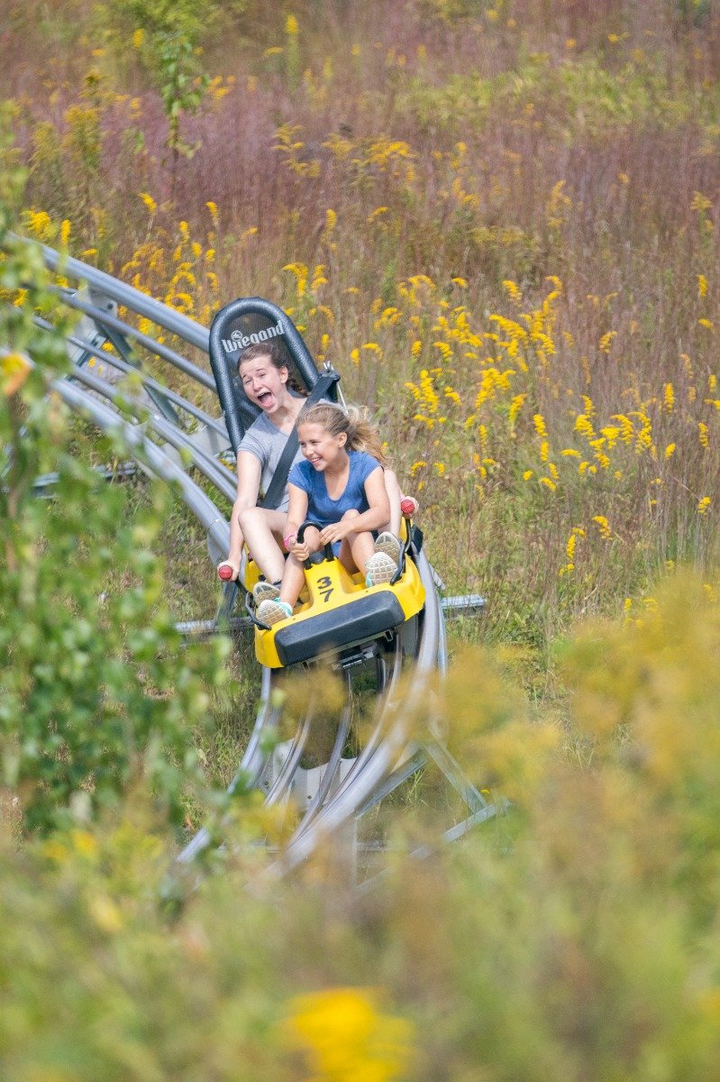 Cranmore Mountain Adventure Park mountain coaster. - © Cranmore Mountain