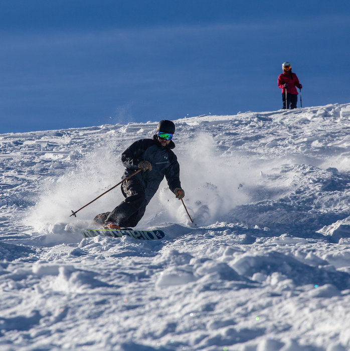 Lapping the fresh at Copper Mountain.  - © Curtis DeVore, Copper Mountain