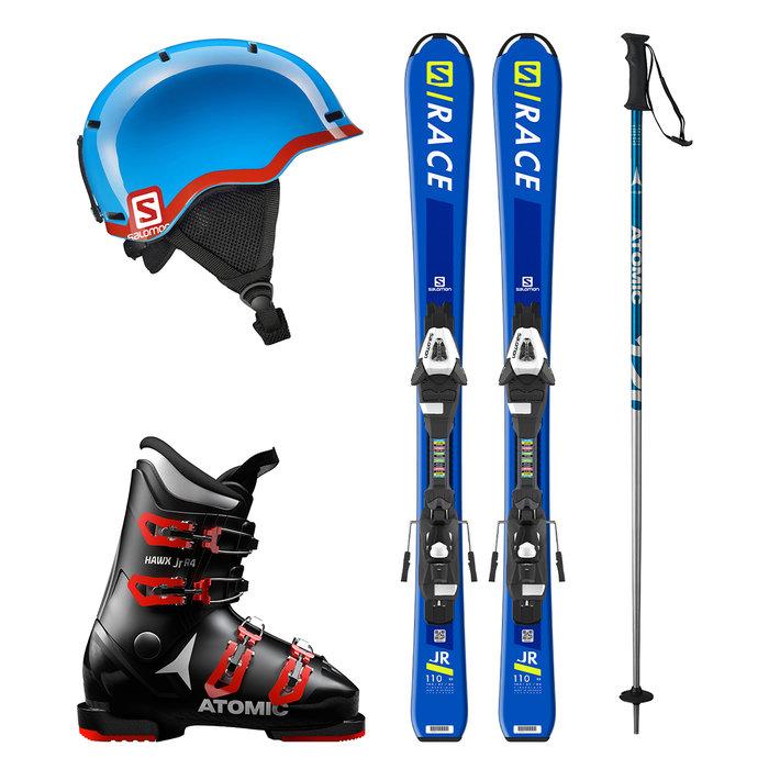 Dětský lyžařský set k zapůjčení online: Chlapecký set s modrými lyžemi - © mall.cz/CZ SKI