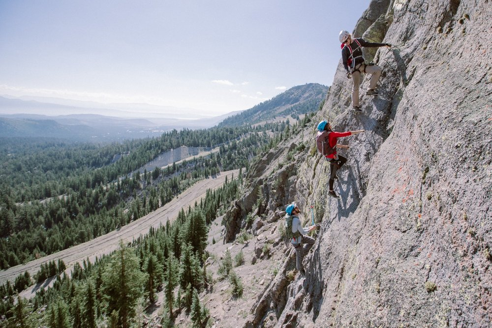Mammoth's Via Ferrata is a guided climbing experience for all levels. - © Peter Morning (Mammoth Mountain)