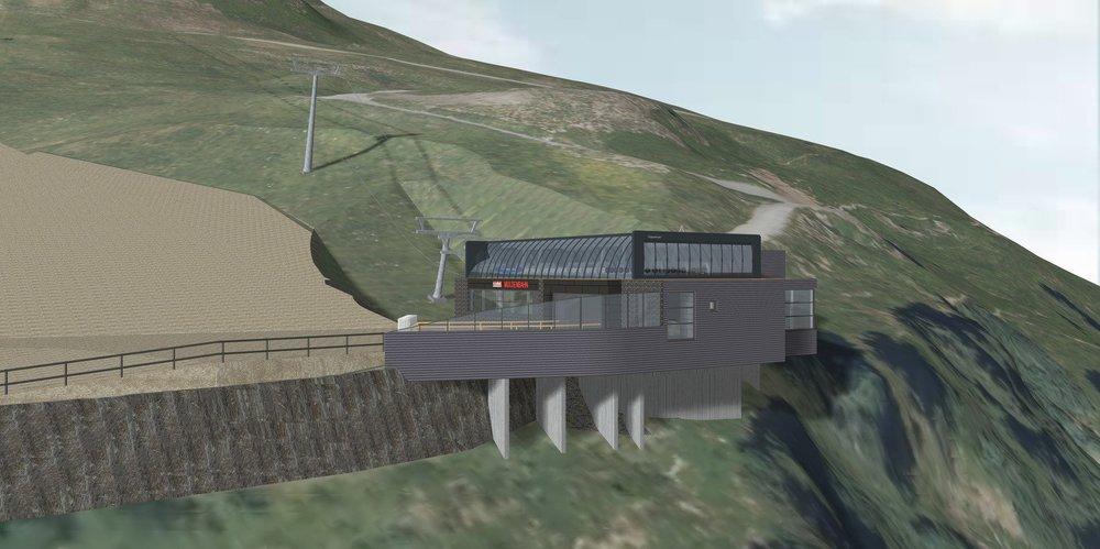 Die Talstation der neuen Muldenbahn im Skicircus Saalbach-Hinterglemm Leogang Fieberbrunn - ©  Tourismusverband Saalbach Hinterglemm