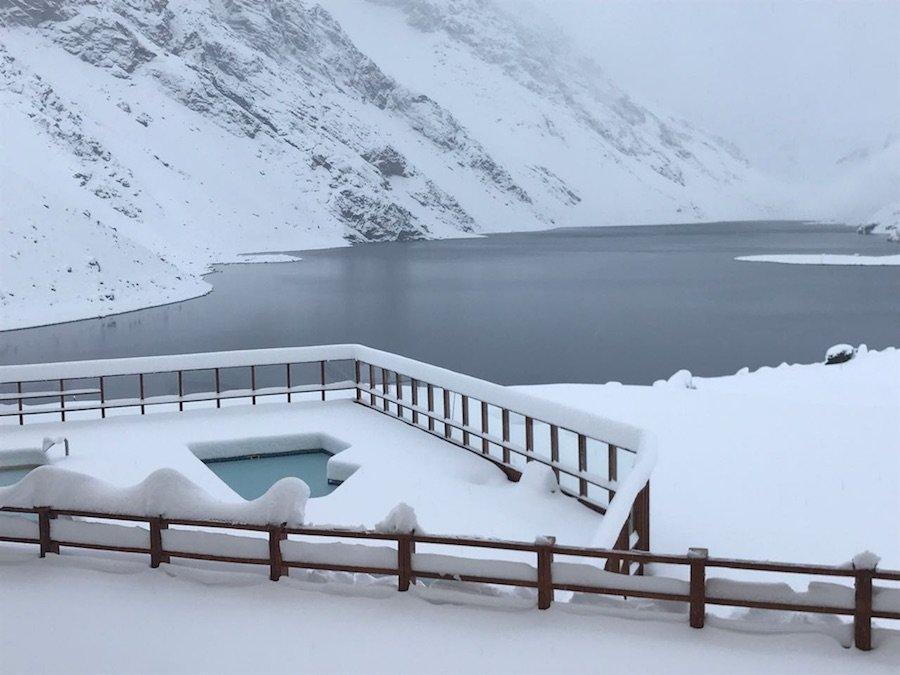 A fresh snow is helping to prep Portillo for the upcoming season. - © Ski Portillo