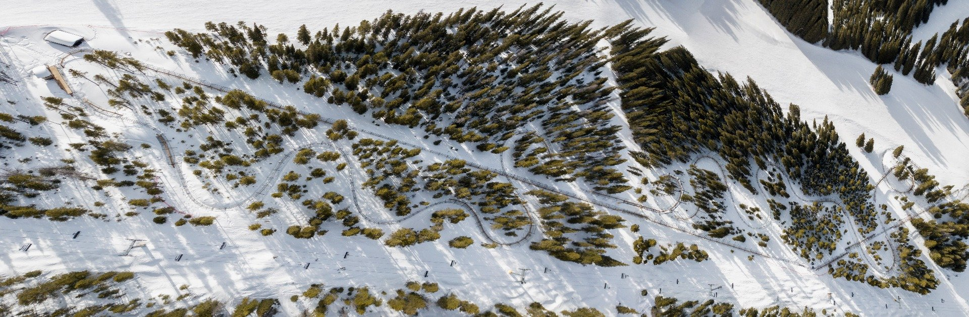 A view of Copper Mountain's Rocky Mountain Coaster from above - © Tripp Fay, Copper Mountain Resort