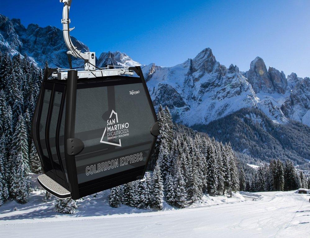 La nuova cabinovia Colbricon Express nella skiarea San Martino di Castrozza - Passo Rolle - © Sanmartino.com