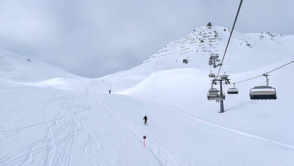 Masnerkopf (2828 m) to najodleglejszy zakątek ośrodka narciarskiego Serfaus-Fiss-Ladis - © Tomasz Wojciechowski