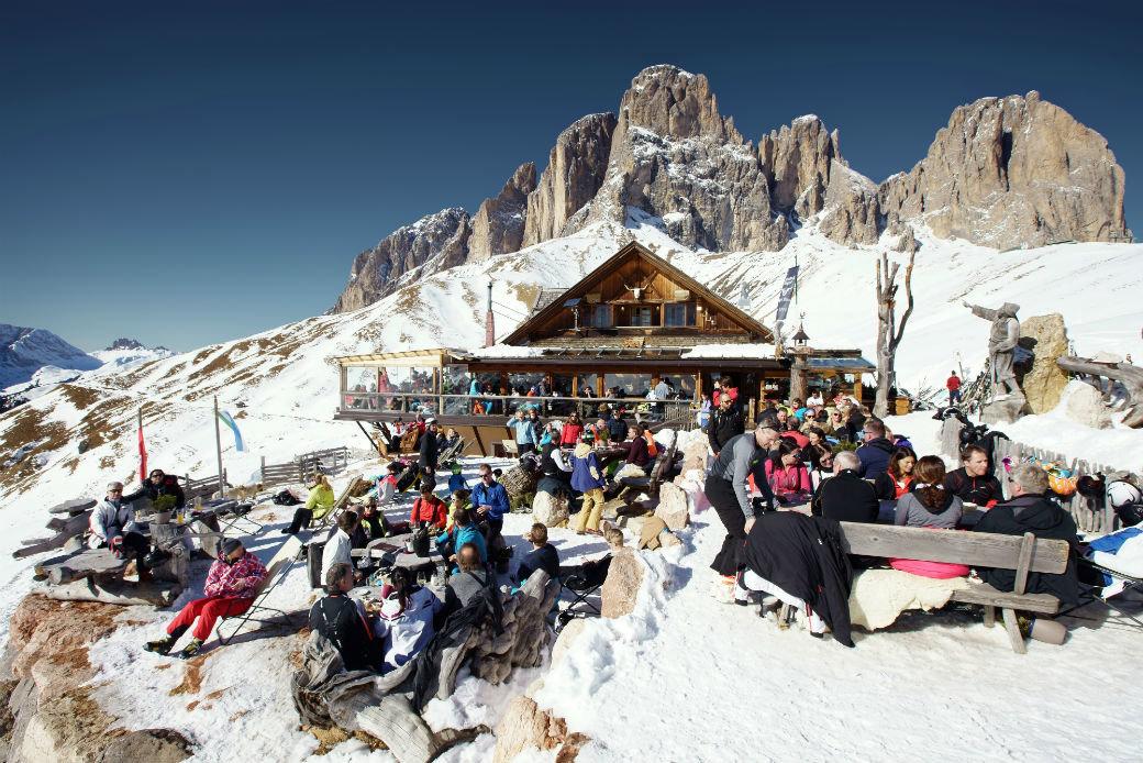 Rifugi in Trentino - Rifugio Friedrich August, Skiarea Col Rodella, Val di Fassa  - © Trentino - K. Schoenberger