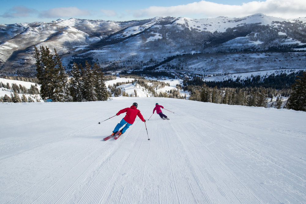 Though there are plenty of secluded, advanced runs and great beginner terrain, more than half of Solitude Mountain Resort's 1,200 acres, 65 runs, 8 lifts and 2,000 vertical feet are labeled for those in the middle. - © Adam Clark