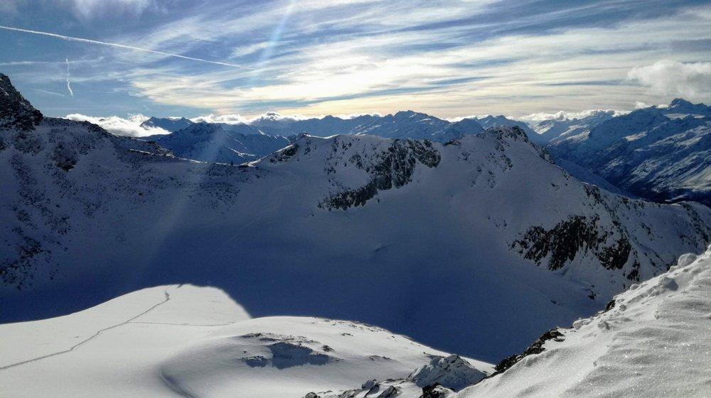 Panorama z lodowca Stubai - 1.12.2018 - © Tomasz Wojciechowski