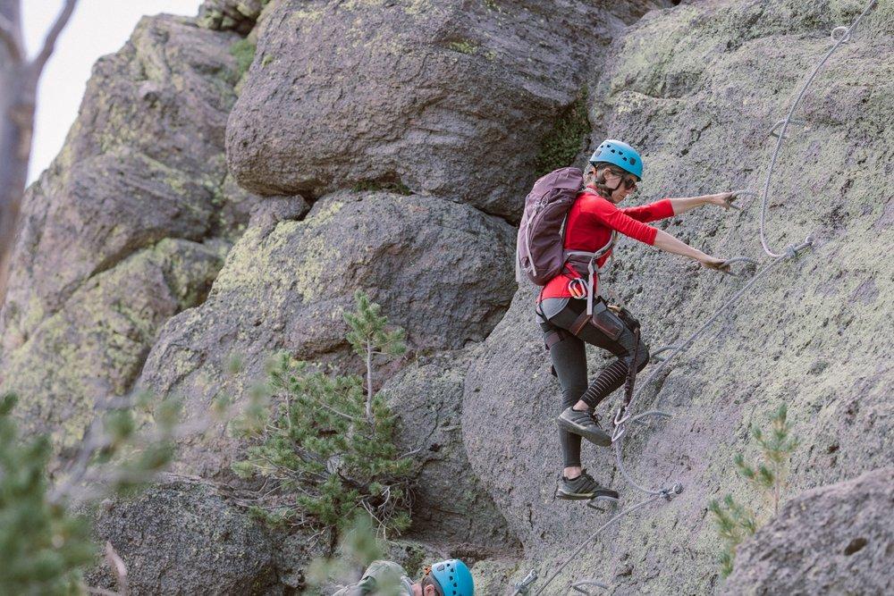 Via Ferrata is rock climbing made simple. - © Peter Morning (Mammoth Mountain)