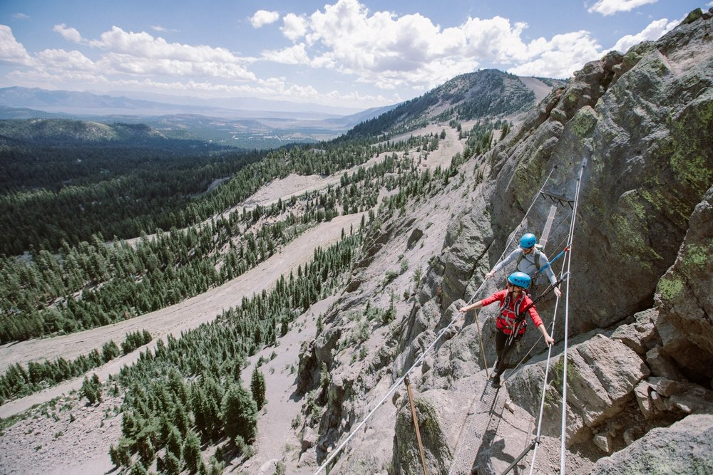 Via Ferrata views at Mammoth. - © Peter Morning (Mammoth Mountain)