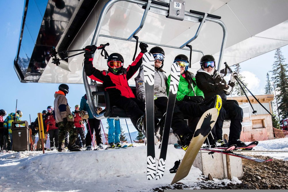 First chair of the 18/19 season is cause for celebration. - © Wolf Creek, Christian Murdock