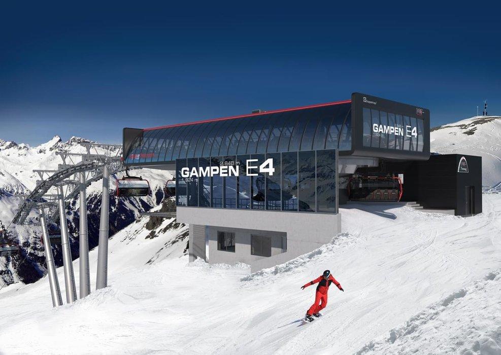Westansicht der Gampenbahn Bergstation - © Silvrettaseilbahn AG