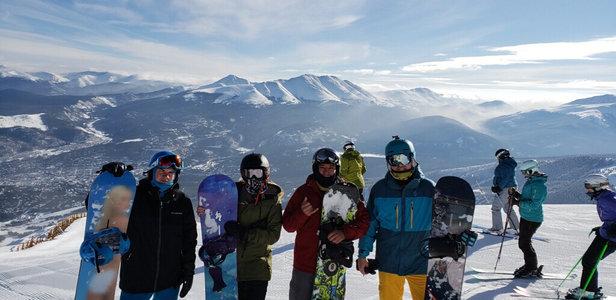 Breckenridge - Top of peak 8.  100% open terrain!  - © Michael's iPhone