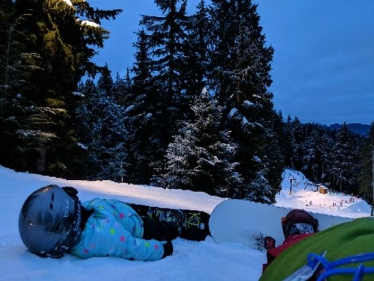 Mt Seymour - Awesome night skiing and empty lifts on New Year's day. Too bad they make you queue for 20 min on the access road even when the mountain is empty.  - © anonymous