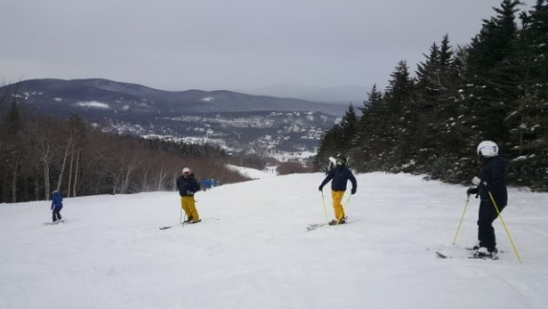 Mount Snow - Great ungroomed powder conditions on Sun 1/20. Crowds on some trails but others empty. Today is super cold and windy  - © cultski