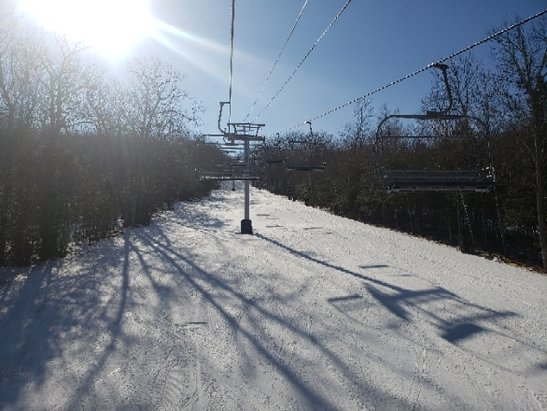 Ski Butternut - fun times mid week.  soft snow made park laps forgiving. hope it getscold soon - © anonymous
