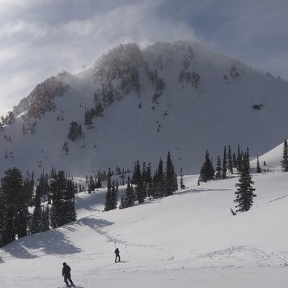 Snowbasin - great conditions today, sun shining and plenty of powder stashes. - © snowmanshreds