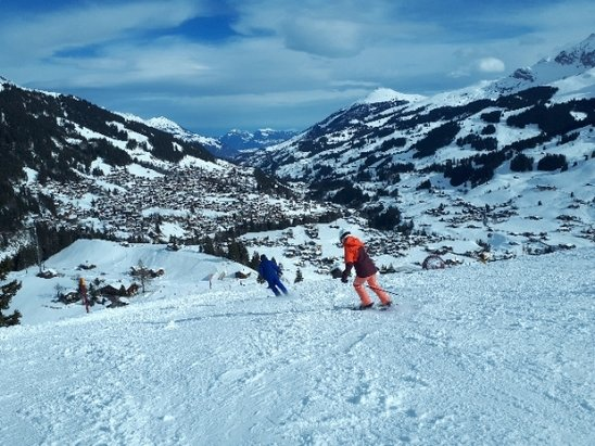 Adelboden - Good conditions all round. High winds closed down most slopes but Chienibargli remained open - © anonymous