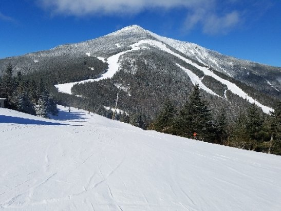 Whiteface Mountain Resort - Nice day with packed powder and very little ice except where lots of people ski. Windy at the top but when isn't it?  - © anonymous