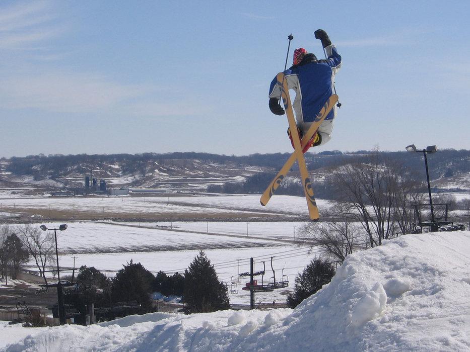 Ski jump at Mt. Crescent,  Iowa