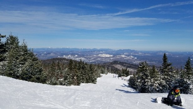 Gore Mountain - Not much snow but most of what fell held on through the weekend. A few slick icey spots but manageable. Was good skiing weather. - © anonymous