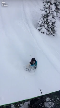 Fernie Alpine - Talk about a deep day! I say 70 CM on the stake this morning at 8:30 - © iPhone