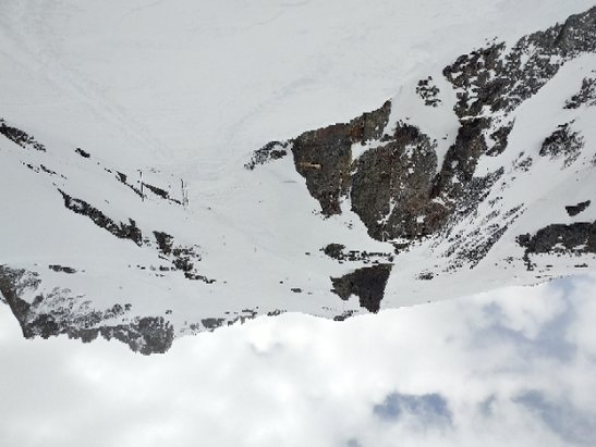 Telluride - Skiied 18-19 Bluebird. All skiied out. Deep base but needs fresh, storm coming Thursday. Not spring condition yet freeze / fry... Enjoy the upsidedown pic.  - © jerel