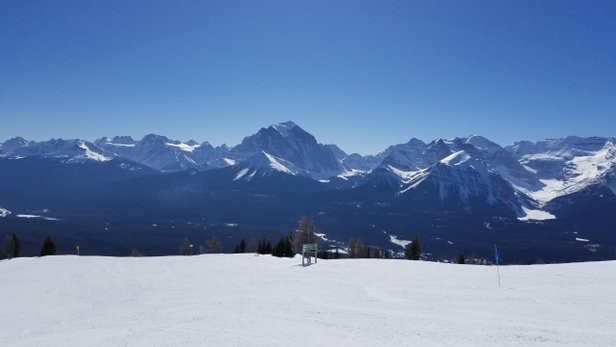 Lake Louise - sunny skies, warm temps, soft snow...ahhhhhh! Spring Skiing! - © JeffR