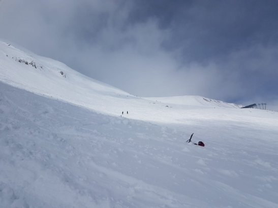 Big Sky Resort - Great snow for April. Sunlight was 3ft deep in parts. Easy to get buried!  - © anonymous