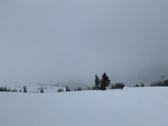 Loveland - White out conditions. Sunny in the morning and snow pellets in the afternoon. Love Colorado.  - © iPhone (2)