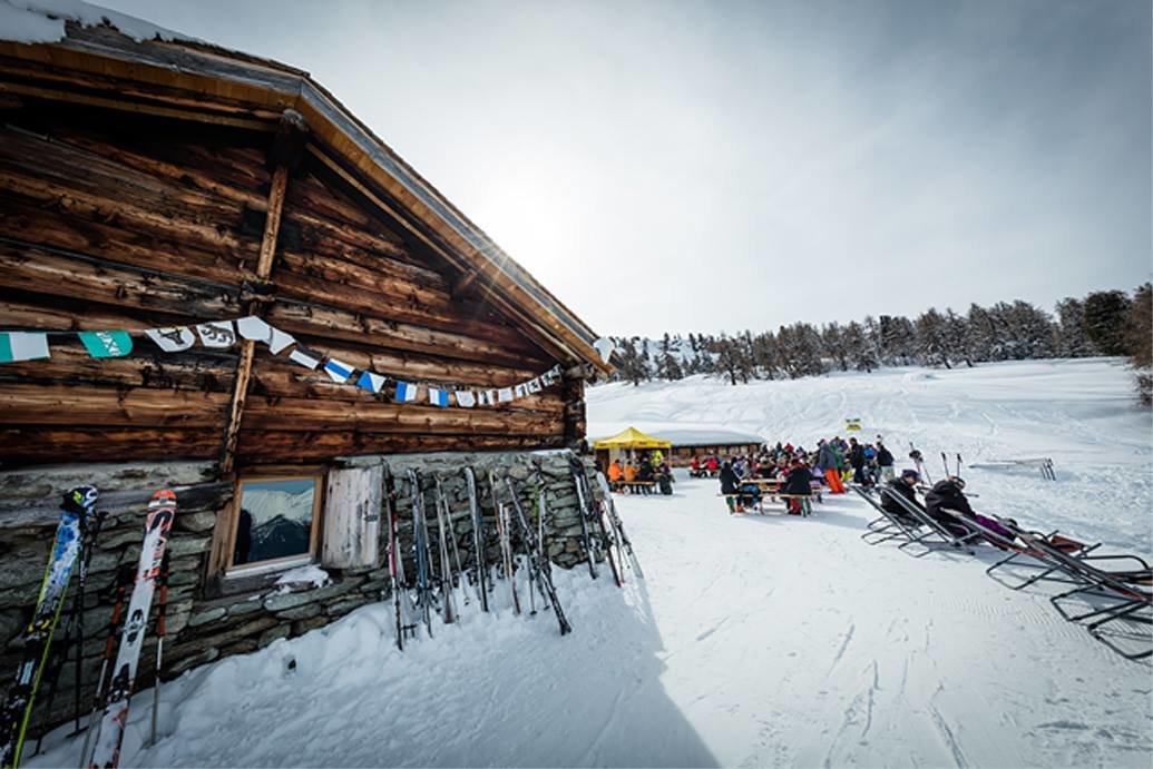 Buvette du Chiesso im Skigebiet Nax Mont Noble - © Buvette du Chiesso